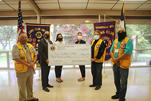 Brownsville Nite Lions donated $3,000 for student Scholarships during a recent meeeting of the TSC Board of Trustees.
